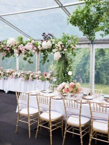 floral set up on truss stand