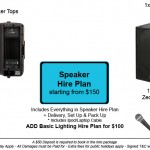 Speaker Hire Plan