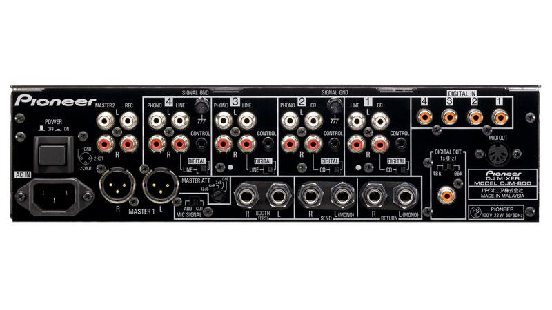 Back of DJM 800