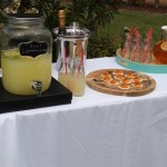 wedding ceremony drinks table