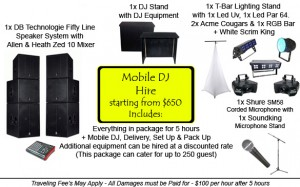 mobile dj hire sydney