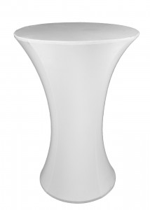 White Bar Table Lycra Cover