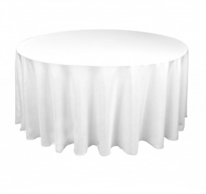 White Round Tablecover Hire