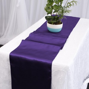 purple table runner hire